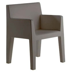 Jut furrow Chair Vondom grey