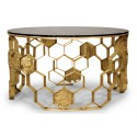 Coffee table MANUKA brass pole BRABBU Design Forces