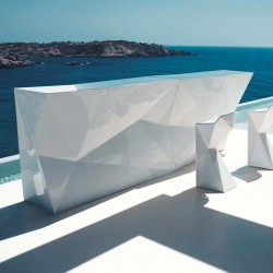 Bar Central Lumineux Faz Vondom Blanc