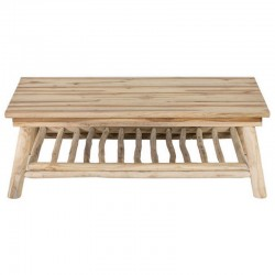 Table low rectangular trays teak KosyForm cottage 2