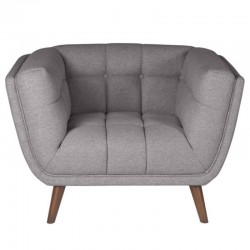 Armchair in fabric Intense gray Meryl KosyForm