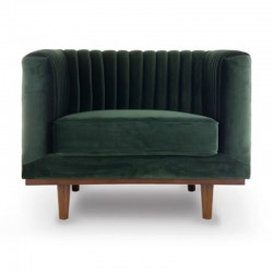 Chair in Velvet green Mantis KosyForm