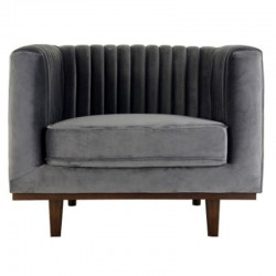 Mantis KosyForm gray velvet armchair