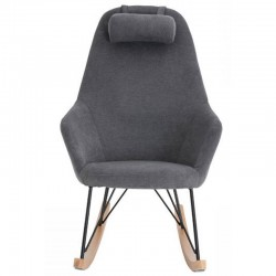 Hygge fabric grey clear and Eva KosyForm wood rocking chair