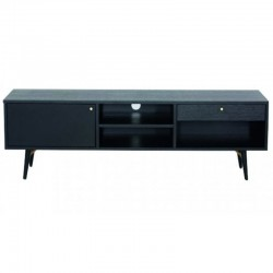 160 plate Black Oak TV stand and feet Metal Roma KosyForm