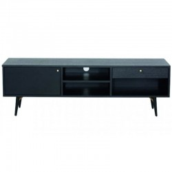 120 plate Black Oak TV stand and feet Metal Roma KosyForm
