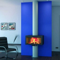 FocGrup Panoramic Fireplace with Glass Door and Foyer in Fonte 60