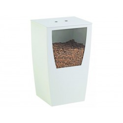 Storekeeper to pellet wood Opus with shovel and nineteen white design